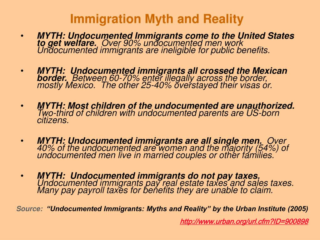 Immigration Myth and Reality