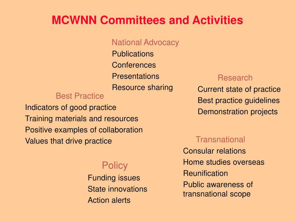 MCWNN Committees and Activities