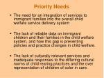 priority needs