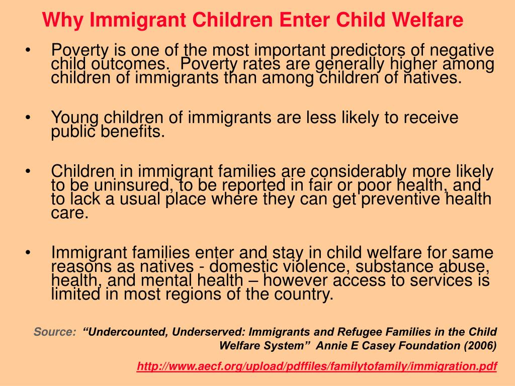Why Immigrant Children Enter Child Welfare