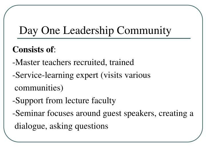 Day One Leadership Community