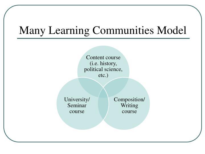 Many Learning Communities Model