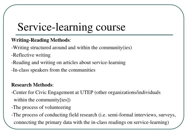 Service-learning course