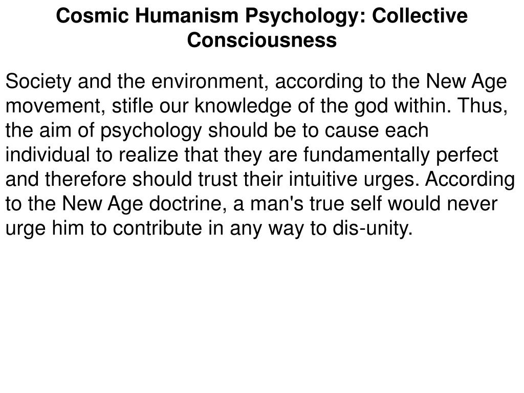 Cosmic Humanism Psychology: Collective Consciousness