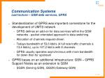 communication systems last lecture gsm data services gprs