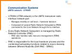 communication systems umts network utran