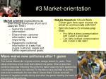 3 market orientation