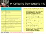 4 collecting demographic info