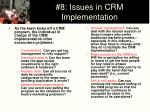 8 issues in crm implementation