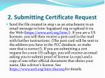 2 submitting certificate request