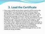 3 load the certificate