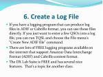 6 create a log file