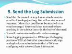 9 send the log submission