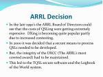 arrl decision