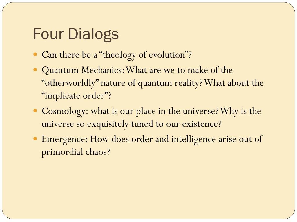 Four Dialogs