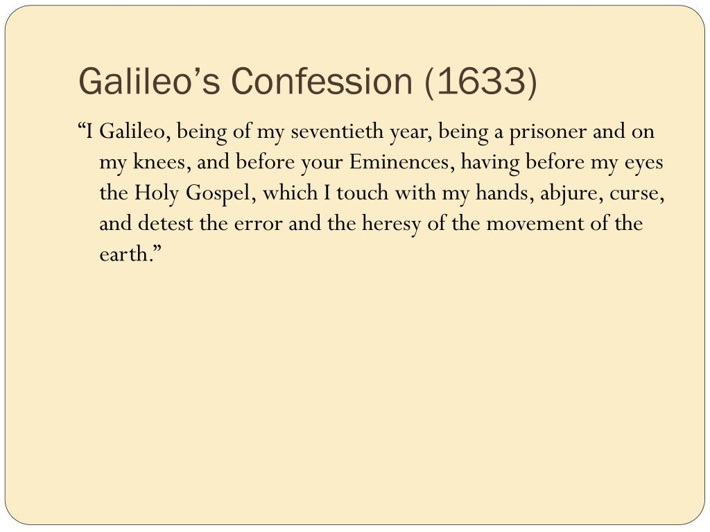 Galileo's Confession (1633)