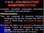 h m g coa reductase inhibitors statins