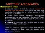 nicotinic acid niacin