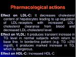 pharmacological actions37