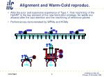 alignment and warm cold reproduc
