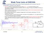 blade tuner tests at chechia1