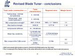 revised blade tuner conclusions