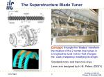 the superstructure blade tuner
