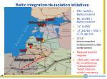 baltic integration de isolation initiatives