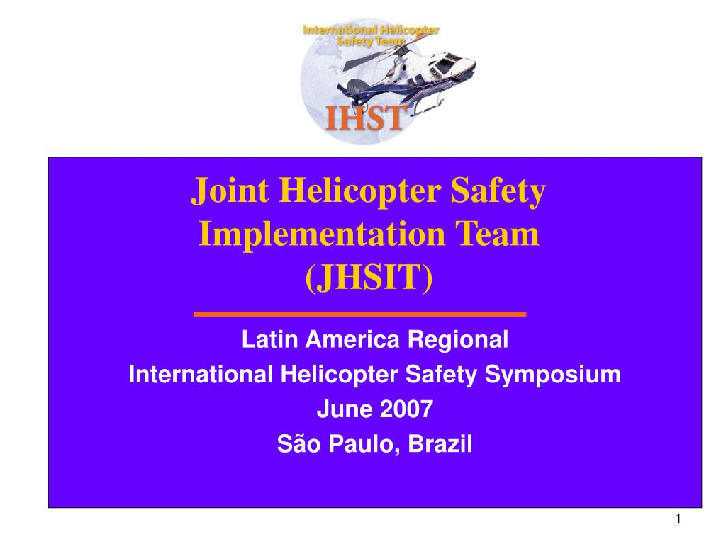 joint helicopter safety implementation team jhsit l.
