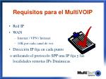 requisitos para el multivoip
