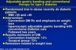 adjustable gastric banding and conventional therapy for type 2 diabetes