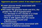 aggressive glycemic control a two edged sword