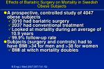 effects of bariatric surgery on mortality in swedish obese subjects