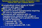 hypoglycemic episodes and risk of dementia in older patients with type 2 diabetes mellitus