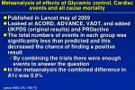metaanalysis of effects of glycemic control cardiac events and all cause mortality
