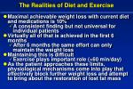 the realities of diet and exercise