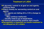 treatment of lada