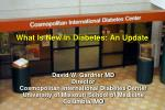 what is new in diabetes an update112