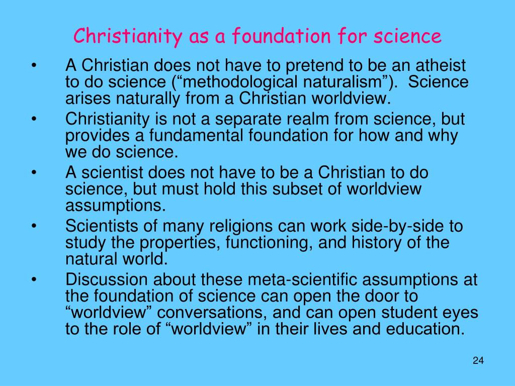 Christianity as a foundation for science