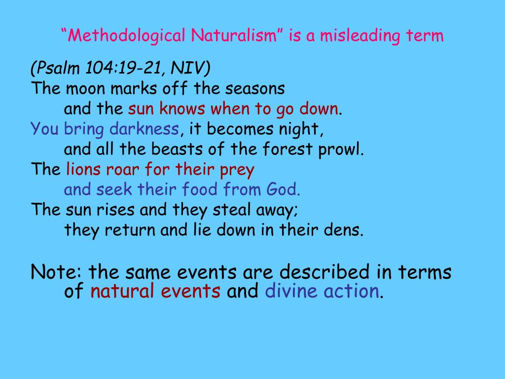 """""""Methodological Naturalism"""" is a misleading term"""