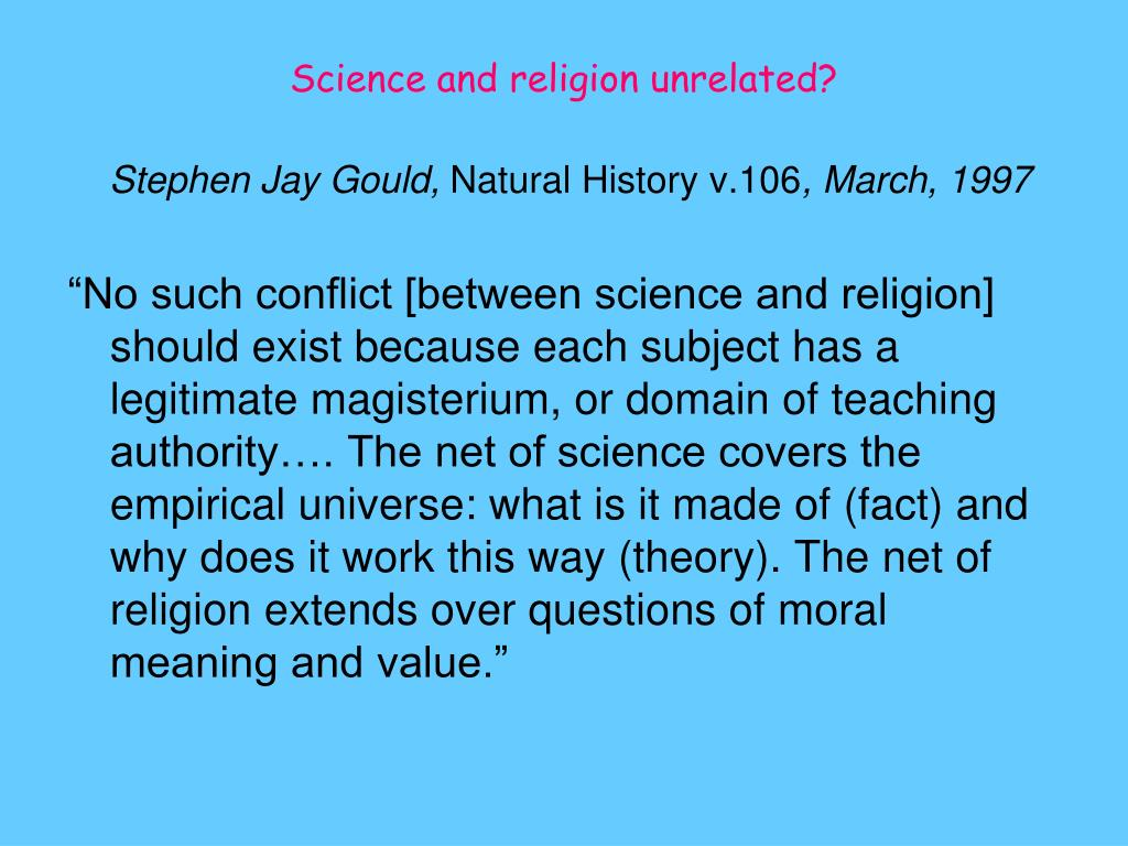 Science and religion unrelated?