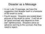 disaster as a message16