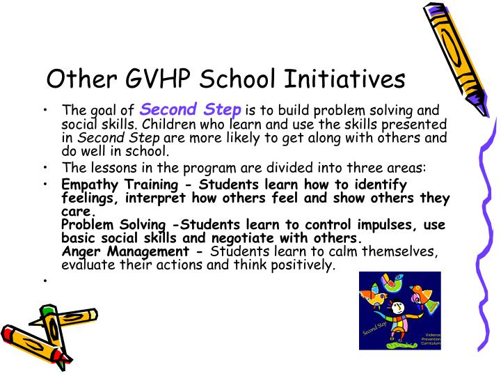 Other GVHP School Initiatives
