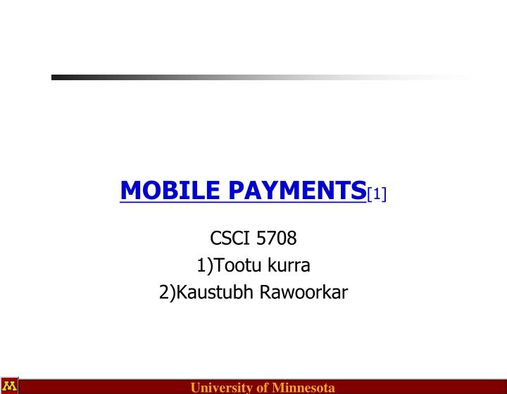 mobile payments 1 n.