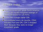 the cdx index
