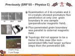 previously srf 05 physica c