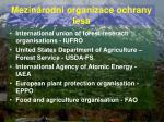 mezin rodn organizace ochrany lesa