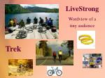 livestrong wordview of a tiny audience
