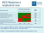 mcs response a longitudinal view