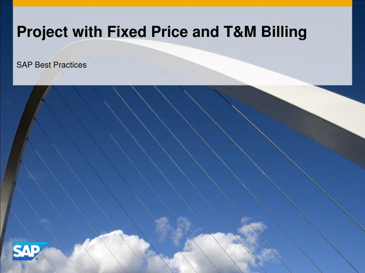 project with fixed price and t m billing n.